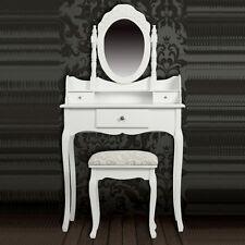 Schminktisch mit Spiegel + Hocker Frisierkommode Frisiertisch Kosmetiktisch weiß