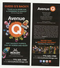 Avenue Q Mercury Theater Chicago 2018 Advertising Flyer