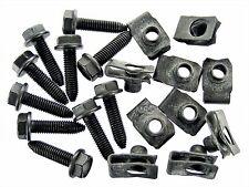 Ford Flange Head Bolts & U-Nuts- M8-1.25mm Thread- 13mm Hex- Qty.10 ea.- #131