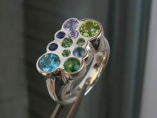 su ordinazione,anello in argento,zaffiro,smeraldo,peridoto,tormalina,tsavorite