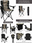 MioCoia Oversized Camping Chair Folding Heavy Duty Quad Outdoor Large Camo