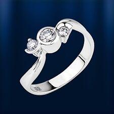 Russische Weißgold 585 Ring mit Diamanten 0.33 Ct. G-H VVS/VS Neu Glänzend