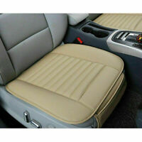 Beige Auto PU Leather Car Front Seat Cover Breathable Chair Cushion Protector