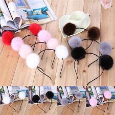 Womens Girl Warm Pom  Ball Furry Ears Headband Hair band Head_Accessor