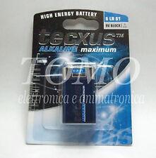 Batteria alcalina 9V Tecxus 6F22