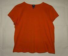 Womens Eileen Fisher Shirt Top in Burnt Orange - Size Medium - Short Sleeve