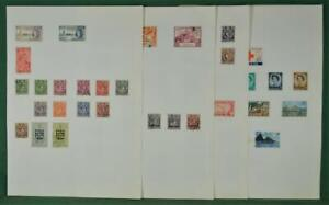 ST. LUCIA STAMPS SELECTION ON 5 ALBUM PAGES USED  (F83)