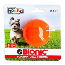 Bionic Ball Orange Durable Dog Treat Toy Small   Strong Tough Hard Chew Floats