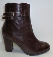 Marc Fisher Size 8.5 M KATTIE Dark Brown Leather Ankle Boots New Womens Shoes