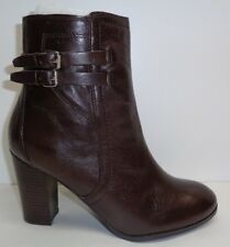 Marc Fisher Kattie Womens Size 8.5 Brown Leather Fashion Ankle BOOTS