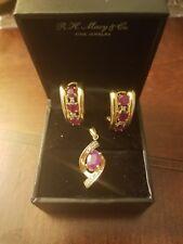 14k Earrings and pendant set