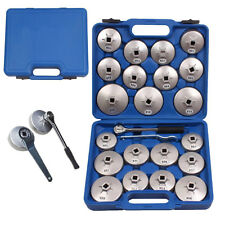 """23pcs Aluminum Alloy Cup Type Oil Filter Cap Wrench Socket Removal Tool Set 1/2"""""""