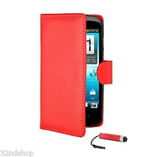 WALLET PU LEATHER CASE COVER FITS HTC DESIRE C / 500 FREE SCREEN PROTECTOR