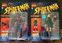 "Marvel Legends 6"" Spider-Man and Gwen Stacy / Mary Jane Retro Vintage Sealed"
