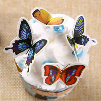 50x Schmetterlinge Hochzeit Geburtstag Papier Cupcake Kuchen Toppers WJ