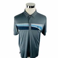 Travis Mathew Gray Stretch Polyester Active Golf Polo Shirt Men's Large L