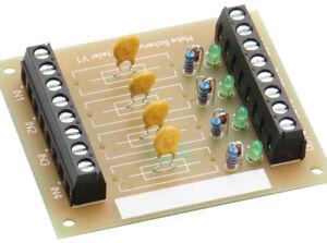 Modellbahn Strom Verteiler für 4 abgesicherte Stromkreise   > *NEU/OVP*