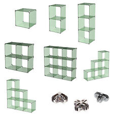 New Toughen Glass Cube Display Rounded Corners Heavy Duty Top or Free Standing