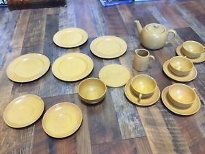 Paul Revere Pottery Golden Yellow Or Mustard Color Saturday Evening Girls SEG