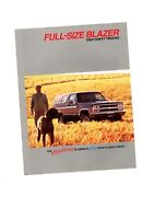1989 Chevy full size BLAZER Truck Brochure with Color Chart: Silverado,4WD,4x4,4