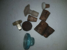 Lot of Vintage / Antique bottle Stoppers x 9