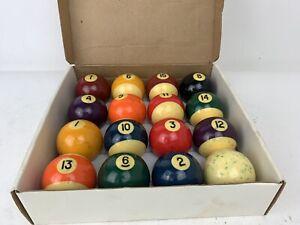 "Murrey Professional Billiard Balls Complete 2 1/4"" Set In Box"