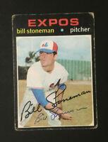 Bill Stoneman Expos signed 1971 topps baseball card #266 Auto Autograph