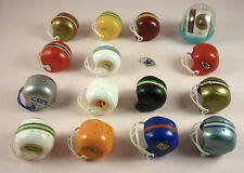 15 NFL MINIATURE FOOTBALL HELMETS - BAGLOT # 4 - ASSORTED TEAMS
