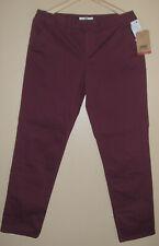 "BNWT Ladies VANS ""Off The Wall"" Dark Red slim fit trousers - size UK16/EU42"