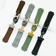 25*19mm Matte Leather Silicone Strap Wristwatch Band For Hublot Watches 22 buckl