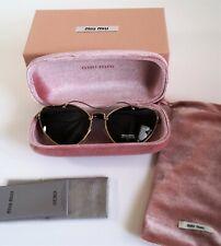 New Miu Miu SMU55R Scenique Heart Cat Eye Antique Gold Metal Women's Sunglasses