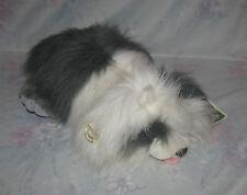 Vtg Heritage Ganz Bros Googles Plush Grey & White Puppy Dog - Original Hang Tag