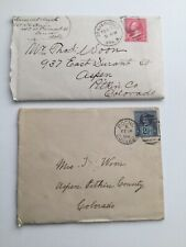 Lot Of 2 Vintage Late 1890s Handwritten Letters With Original Envelopes + Stamps