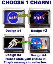Nasa Logo #1 Custom Italian Charm Space Shuttle, Astronaut Best!