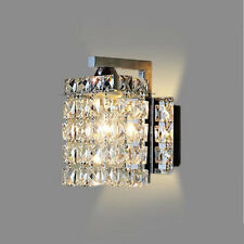 Crystal antique style wall lights ebay modern wall light clear crystal droplets polished chrome frame crystal balls h mozeypictures Images