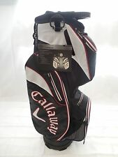 New Callaway Xtreme Cart Golf Bag Black White Red 14 way top