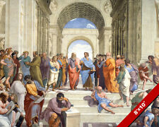PLATO ARISTOTLE ACADEMY OF ATHENS FRESCO PAINTING REAL CANVAS GICLEE 8X10PRINT