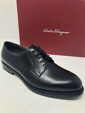 $750 New Salvatore Ferragamo Mens Shoes Black  B'rush' Shoes Size 11 US 10 UK 44