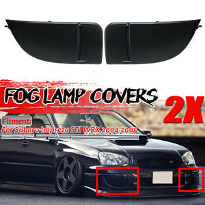 Matte Black Fog Light Cover Front Bumper Bezel For Subaru Impreza WRX 2004 2005