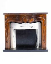Dollhouse Miniatures ~ Wooden & Faux Marble Fireplace, Vintage From Concord