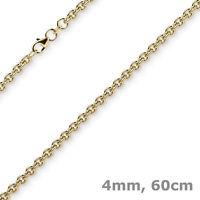 4mm Rund-Ankerkette Kette Collier Halskette 750 Gold Gelbgold 60cm Halsschmuck