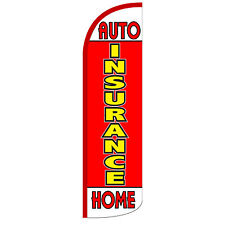 Insurance Auto/Home Extra Wide Windless Swooper Flag