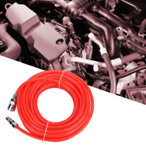 Flexible Air Compressor Hose with Quick Connector Pneumatic Air Pipe Red