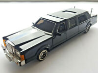 SunnySide 1989 Black Lincoln Continental Town Car Stretch Limousine Diecast Car