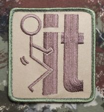 F*CK IT TACTICAL MILITARY USA ARMY BADGE MULTICAM VELCRO® BRAND FASTENER PATCH
