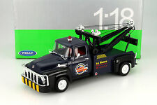Ford F-100 Pick Up Tow Truck Baujahr 1956 dunkelblau 1:18 Welly