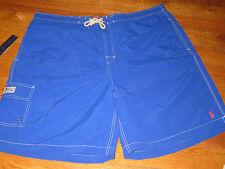 NWT POLO RALPH LAUREN MENS  B & T 2XL SEWN BLUE CARGO  SWIM SHORT TRUNKS NEW $75