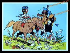 YAKARI indien à cheval petit tonnerre poney indienne AFFICHE chambre pour enfant