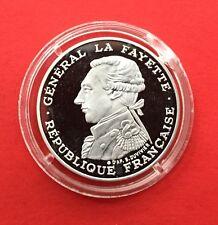 "FRANCE 100 FRANCS 1987 LAFAYETTE "" PIEFORT "" BELLE EPREUVE en ARGENT."