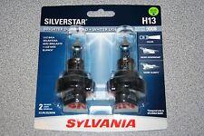 Sylvania Silverstar H13/9008 Pair Set High Performance Headlight Bulbs NEW